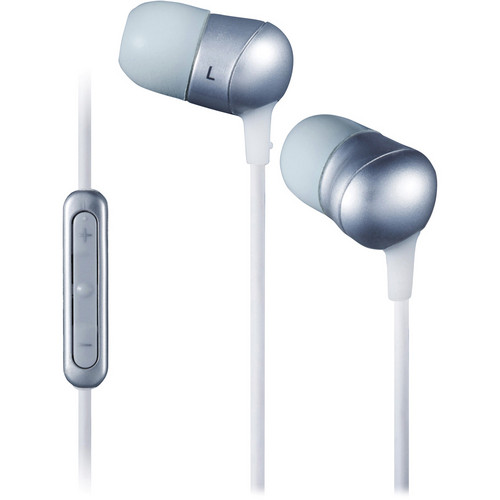 JVC HA-FR50 Marshmallow In-Ear Stereo Headphones with Mic (Silver)