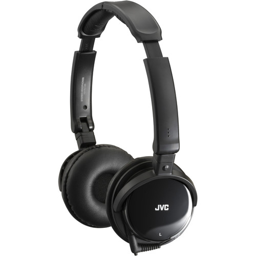 JVC HA-NC120 On-Ear Noise Canceling Headphones