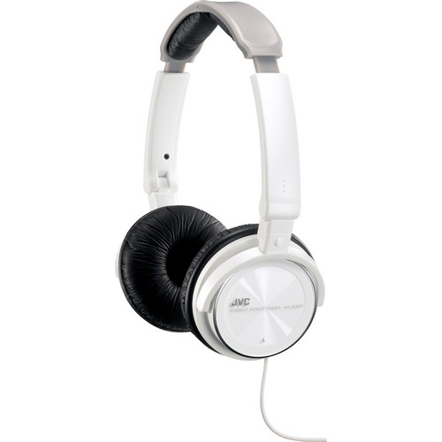 JVC HA-S360 Lightweight On-Ear Headphones (White)
