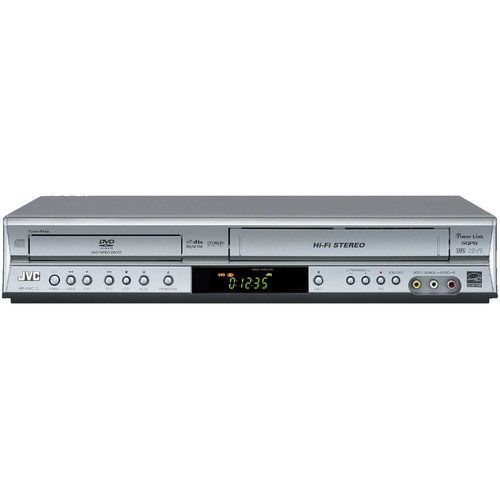 jvc hr xvc12s dvd vcr combo player silver hr xvc12s b h photo. Black Bedroom Furniture Sets. Home Design Ideas