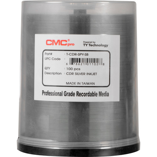 CMC Pro 52x Recordable Inkjet Printable CD-R (100-Pack Spindle)
