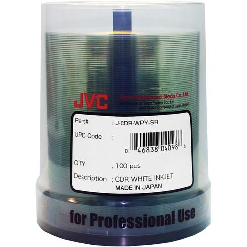 JVC Premium 52x Recordable White Inkjet Printable CD-R (100-Pack)