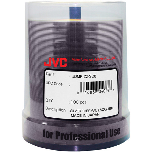 JVC DVD-R 4.7GB 8x Recordable Disc (Spindle Pack of 100)