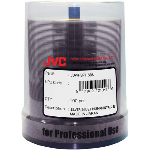 JVC DVD+R Silver Inkjet 100 Pack