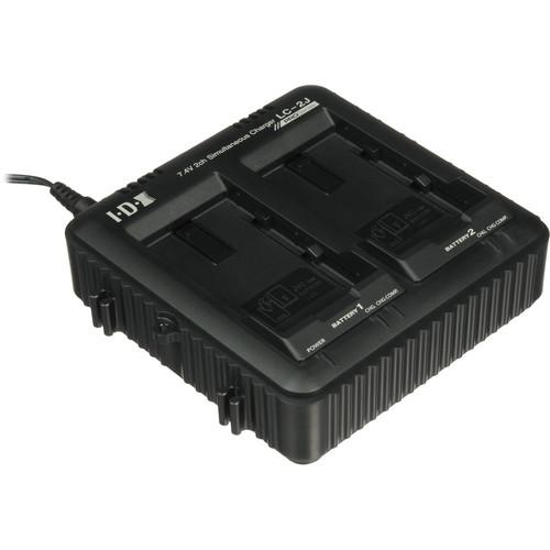 JVC LC-2J Dual Charger for SSL-JVC50 7.4V JVC Batteries
