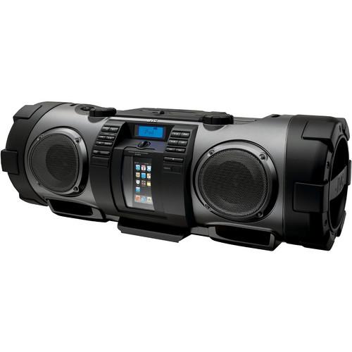 """JVC RV-NB70B """"Kaboom"""" Portable Boom Box (Black)"""