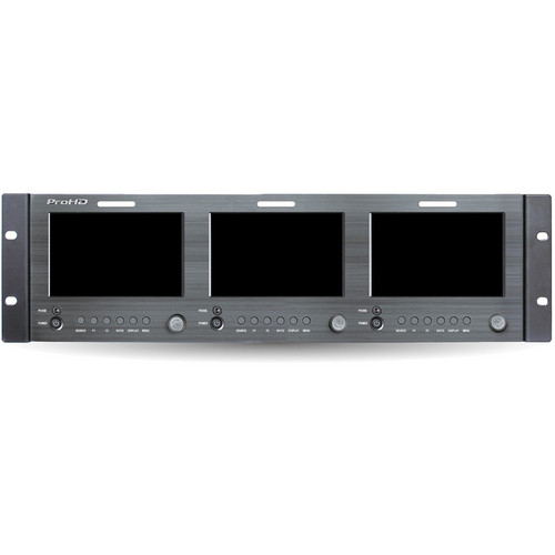 "JVC Triple 5"" Rack Display Monitor With HDMI"
