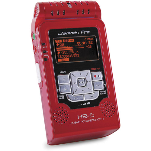 Jammin HR-5 Handheld Digital Audio Recorder (Red)