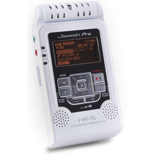 Jammin HR-5 Handheld Digital Audio Recorder (White)