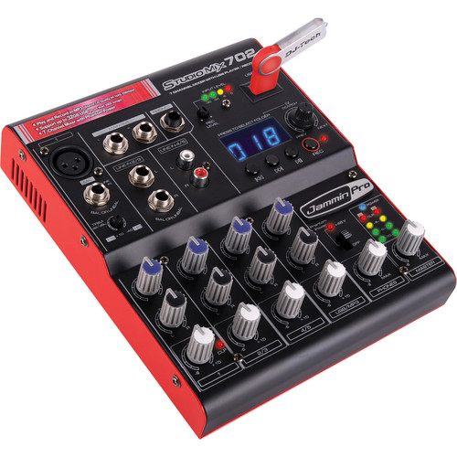 Jammin StudioMix702 7-Channel Mixer with USB Player/Recorder