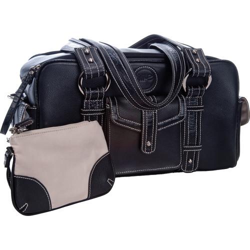 Jill-E Designs Small Camera Bag (Black with Croc Trim)