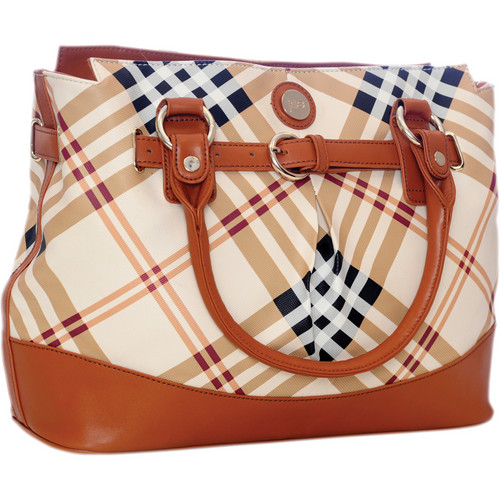 Jill-E Designs Laptop Satchel (Tan Plaid)