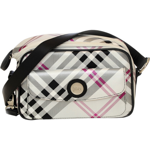 Jill-E Designs Essential Camera Bag (Black/Silver Plaid)