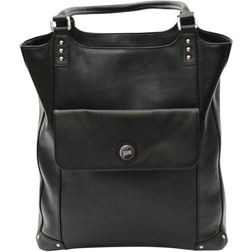 Jill-E Designs Laptop Tote (Black Leather)