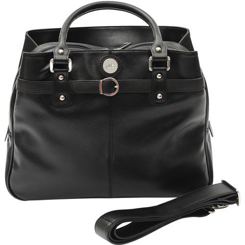 Jill-E Designs Laptop Career Bag - Black Leather