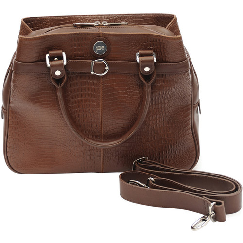 Jill-E Designs Laptop Career Bag - Brown Croc Leather