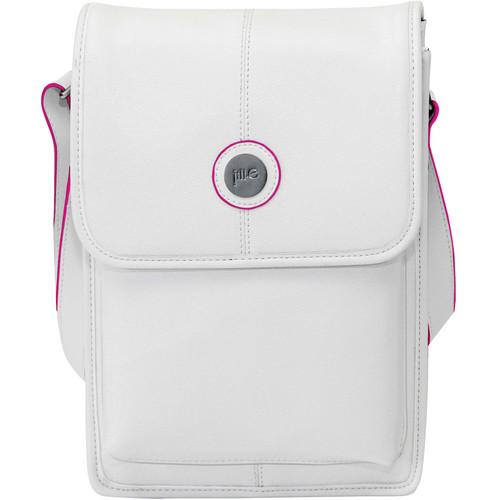 Jill-E Designs Metro Tablet Bag (White/Pink Trim)