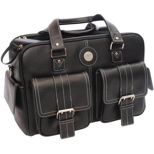 Jill-E Designs Medium Camera Bag (Black with Bone Piping Trim)