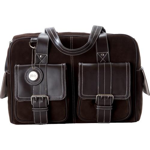 Jill-E Designs Medium Camera Bag (Chocolate Brown with Brown Trim)