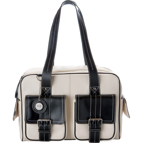Jill-E Designs Medium Camera Bag (Bone with Black Trim)