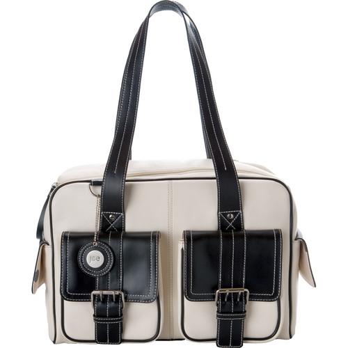Jill-E Designs Medium Camera Bag (Bone with Black Trim)