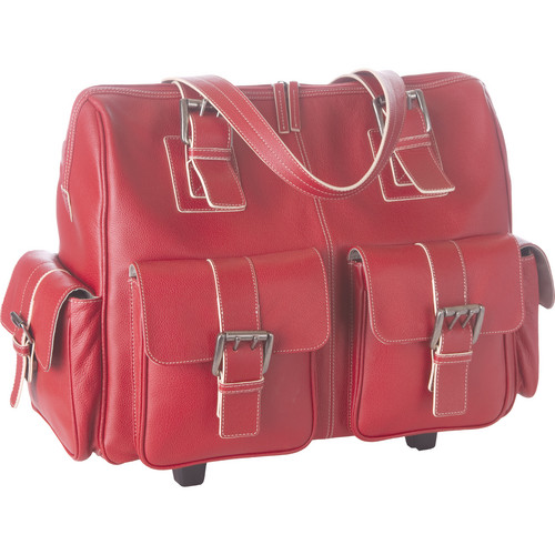 Jill-E Designs Large Rolling Camera Bag (Red)