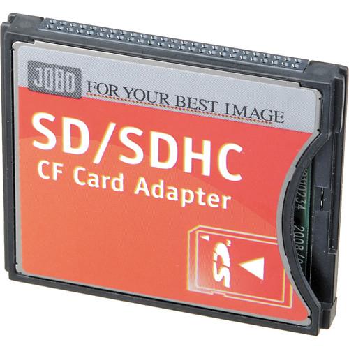 Jobo SD/SDHC to Compact Flash Type II Adapter