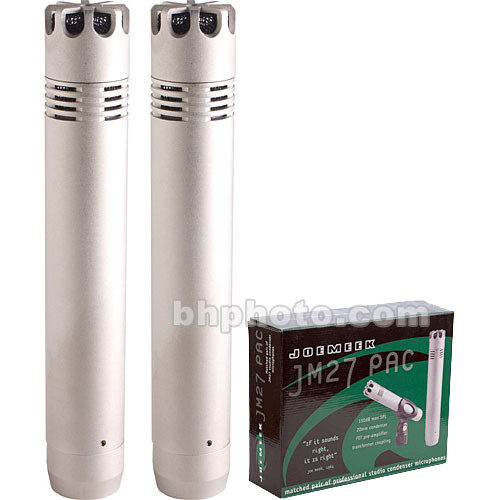 Joemeek JM27 Medium-Sized Cardioid Capacitor Microphone (Matched Pair, Silver)