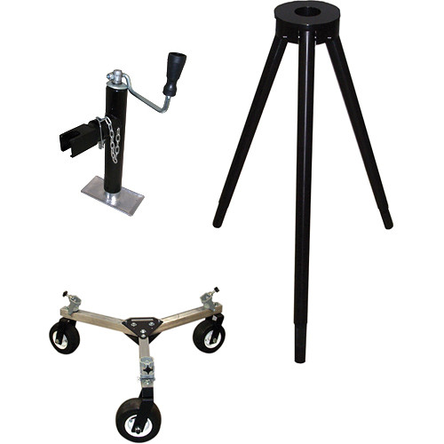 Jony Heavy-Duty Tripod with Mitchell Mount & Dolly/Tires & Outrigger