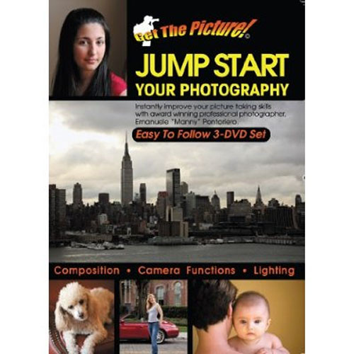 """GET the PICTURE DVD: Jump Start Your Photography by Emanuele """"Manny"""" Pontoriero (3 DVDs)"""