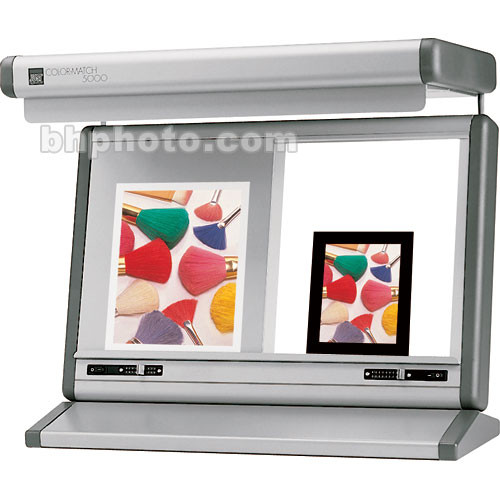 """Just Normlicht 10 x 12"""" Color Match 5000 DUO Transparency Viewer - Silver"""