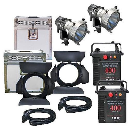 K 5600 Lighting Joker News 400W HMI Pair - 2 Light, 2 Case Kit