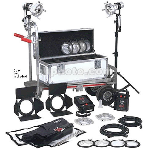 K 5600 Lighting Joker News 400W HMI Pair - 2 Light, 1 Case Kit