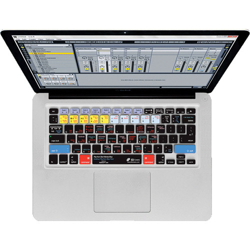 KB Covers Ableton Live Keyboard Cover for MacBook, MacBook Air & MacBook Pro (Unibody, Black Keys)