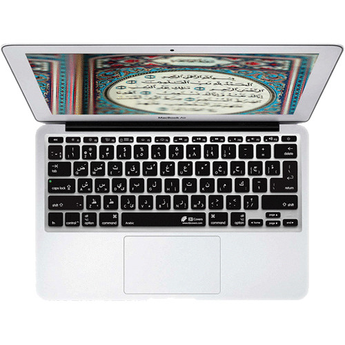 KB Covers Arabic Keyboard Cover for MacBook Air 11-inch (Unibody, Black Keys)