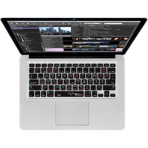 KB Covers CatDV Keyboard Cover for MacBook, MacBook Air & MacBook Pro (Unibody, Black Keys)