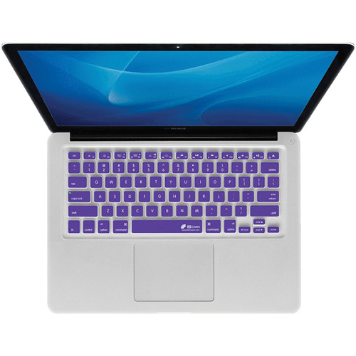 KB Covers Purple Checkerboard (Clear With Purple Buttons) Keyboard Cover