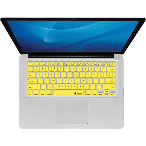 KB Covers Yellow Checkerboard (Clear With Yellow Buttons) Keyboard Cover