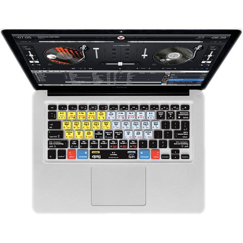 KB Covers djay (by algoriddim) Keyboard Cover for MacBook, MacBook Air & MacBook Pro (Unibody, Black Keys)