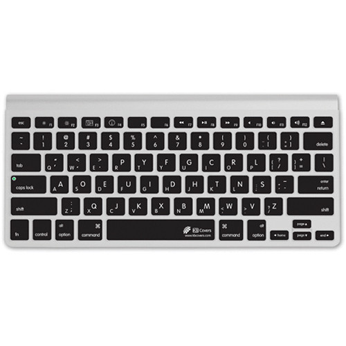 KB Covers Dvorak Keyboard Cover (Clear w/ Black Buttons)