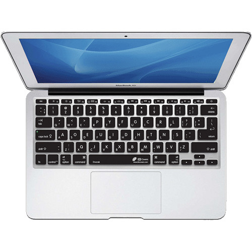KB Covers DVORAK Keyboard Cover for MacBook Air 11-inch (Unibody, Black Keys)