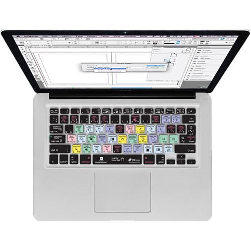 KB Covers InDesign Keyboard Cover for MacBook, MacBook Air & MacBook Pro (Unibody, Black Keys)