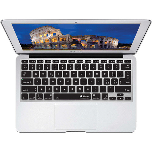 KB Covers Italian Keyboard Cover for MacBook Air 11-inch (Unibody, Black Keys)