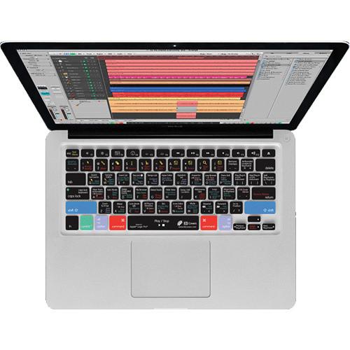 KB Covers Logic Pro/Express Keyboard Cover for MacBook, MacBook Air & MacBook Pro (Unibody, Black Keys)