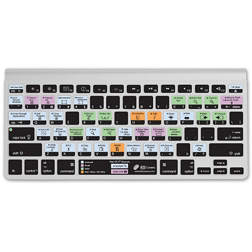 KB Covers OS X Shortcuts Keyboard Cover - Clear w/ Colored Buttons