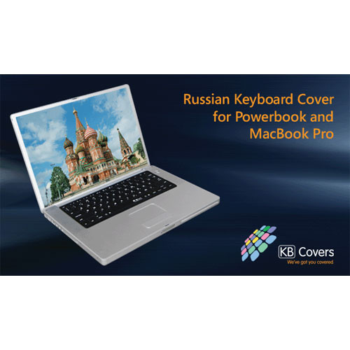 KB Covers RUS-P-B Russian Keyboard Cover