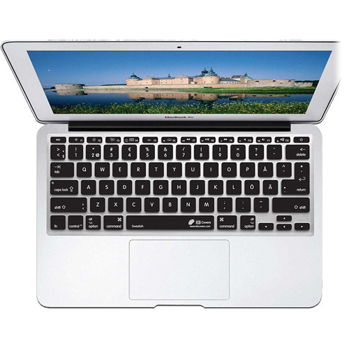 KB Covers Swedish Keyboard Cover for MacBook Air 11-inch (Unibody, Black Keys)