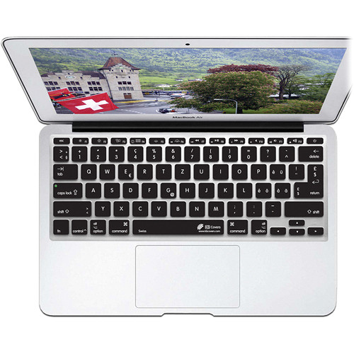 KB Covers Swiss Keyboard Cover for MacBook Air 11-inch (Unibody, Black Keys)