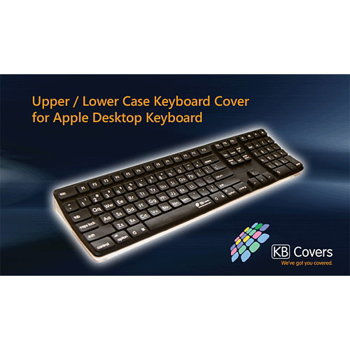 KB Covers UL-K-B Upper & Lower Case Keyboard Cover for the Apple Desktop & Wireless Keyboards
