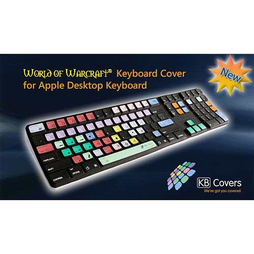 KB Covers WOW-K-BC World of Warcraft Keyboard Cover for the Apple Desktop Keyboard
